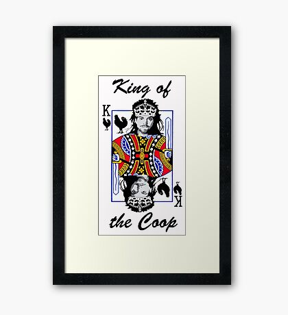 King of the Coop (light shirts ) Framed Print