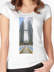 Petronas Twin Towers Women's Fitted Scoop T-Shirt