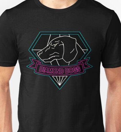 °METAL GEAR SOLID° Diamond Dogs Neon Logo Unisex T-Shirt