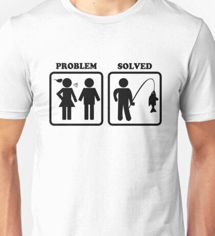 Problem Solved Funny Fishing Unisex T-Shirt