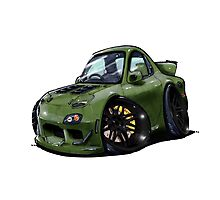 Mazda RX7-Front Photographic Print