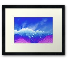 abstract mountain Framed Print