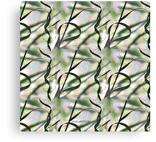 Nature's Ribbons in Green Canvas Print