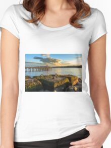 Rossclare Jetty Women's Fitted Scoop T-Shirt
