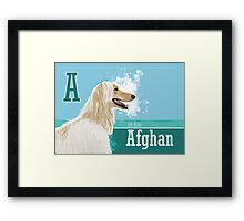 A is for Afghan Framed Print