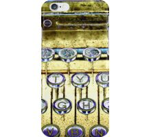 abstract detail of an old typewriter iPhone Case/Skin