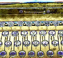 abstract detail of an old typewriter by spetenfia