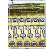 abstract detail of an old typewriter iPad Case/Skin