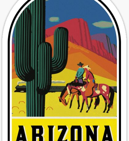 ARIZONA VINTAGE GRAND CANYON TRAVEL PHOENIX COWBOY WILD WEST SAGUARO CACTUS TUCSON TEMPE MESA Sticker