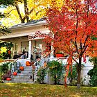 Happy Halloween Decorated Fall House by Diana Graves Photography
