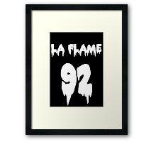 TRAVI$ SCOTT - LA FLAME Framed Print