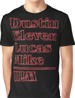 Dustin, Eleven, Lucas, Mike & Will Graphic T-Shirt