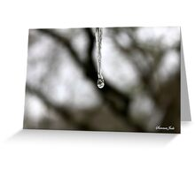 Melting and Freezing ~ An Icicle Greeting Card