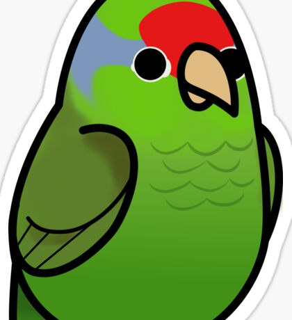Too Many Birds! - Red Crowned Amazon Sticker