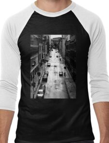 Birmingham City Centre, Edmund Street with Old library in background. Men's Baseball ¾ T-Shirt