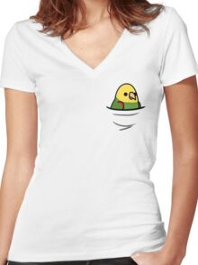 Too Many Birds! - Yellow-Headed Amazon Women's Fitted V-Neck T-Shirt