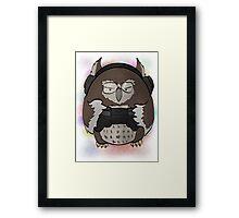 Gamer Owl Framed Print