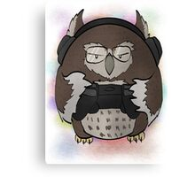 Gamer Owl Canvas Print