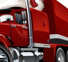 Cartoon Christmas Truck Sticker