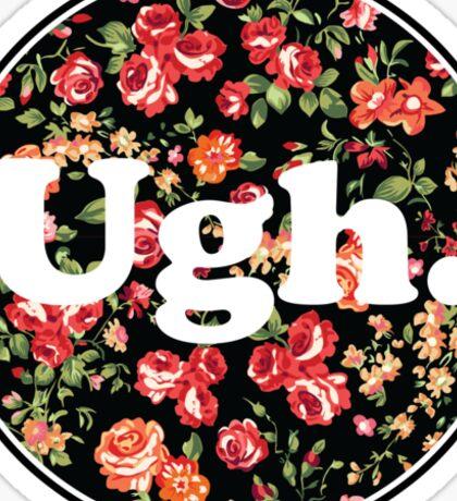 Ugh Floral Sticker