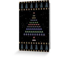 Galaga Christmas Greeting Card