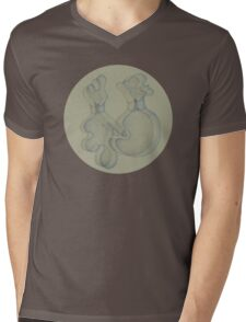 Two Intertwined Forms  Mens V-Neck T-Shirt
