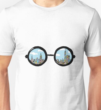NYC Glasses  (Colored) Unisex T-Shirt