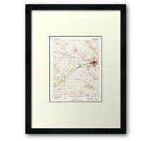 USGS TOPO Map California CA Barstow 296772 1956 62500 geo Framed Print