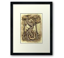 Dangerous tentacle! Framed Print