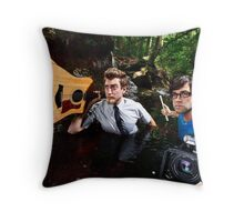 Rhett and Link in the woods Throw Pillow