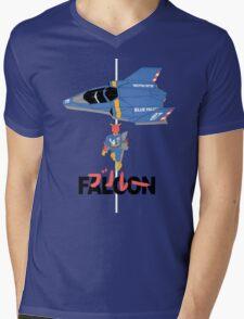 The Legendary Blue Falcon Mens V-Neck T-Shirt