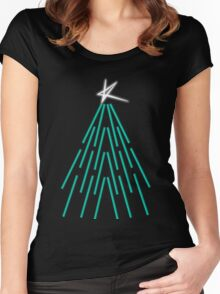 Kylie Christmas: Albert Hall Tree Women's Fitted Scoop T-Shirt