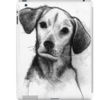 Cute Black/White Dog iPad Case/Skin