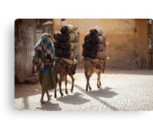 Ethiopia - people, animals and transport Canvas Print