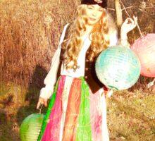 Gypsy Lanterns in Autumn Sticker