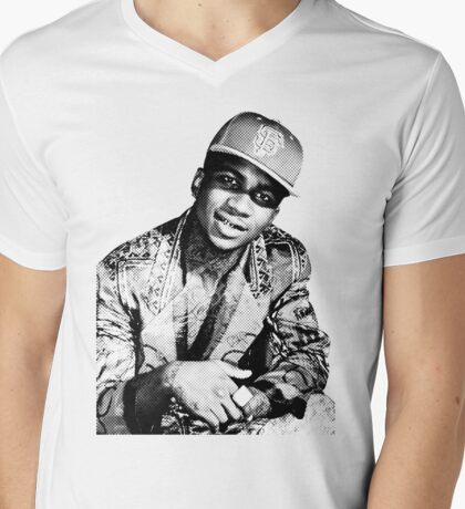 lil b halftone posterized basedgod based god Mens V-Neck T-Shirt