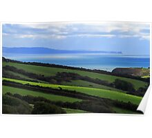 Gower & Worms Head From Penally,Tenby Poster