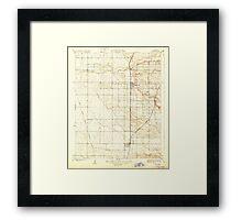 USGS TOPO Map California CA Ducor 296058 1929 31680 geo Framed Print