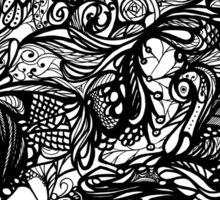 Zen Doodle 1A Black Ink Sticker