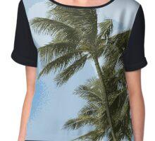 Oahu Palms Chiffon Top