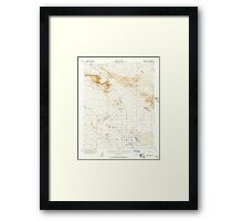 USGS TOPO Map California CA Fremont Peak 297508 1956 62500 geo Framed Print