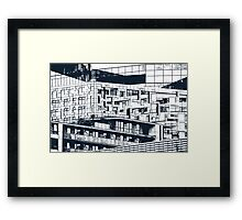 The Cube, Birmingham city centre UK architecture, digitally edited Framed Print