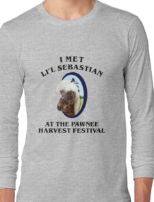 Met li'l sebastian at pawnee harvest festival Long Sleeve T-Shirt