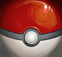 Wartorn Pokeball - Red by Zhivago