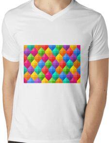 fun colorful geometric  Mens V-Neck T-Shirt
