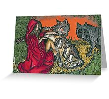 Running with Wolves. Original Design Greeting Card
