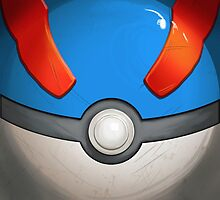 Wartorn Pokeball - Great by Zhivago