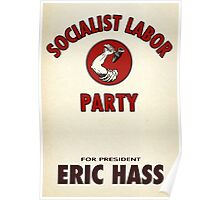 Socialist Labor Party 1956 Election Poster, Vector Recreation, Eric Hass Poster