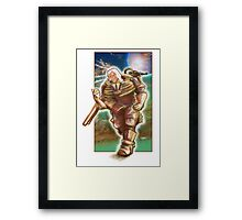 Woman Cosmonaut Soldier - Comics Character Framed Print