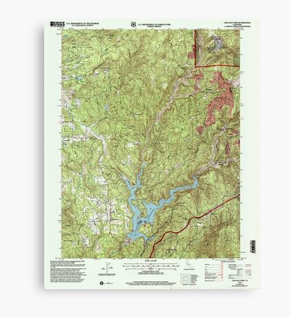 USGS TOPO Map California CA Chicago Park 100011 2000 24000 geo Canvas Print